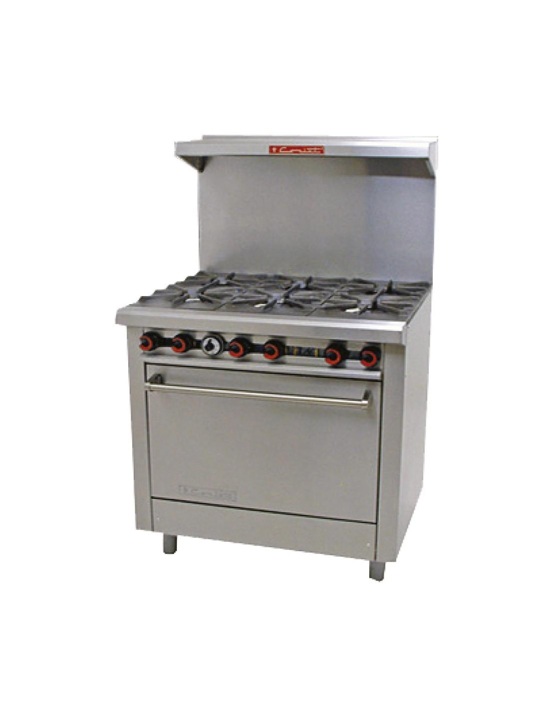 Coriat estufa pesada de gas con horno 4 quemadores for Cocina 6 quemadores