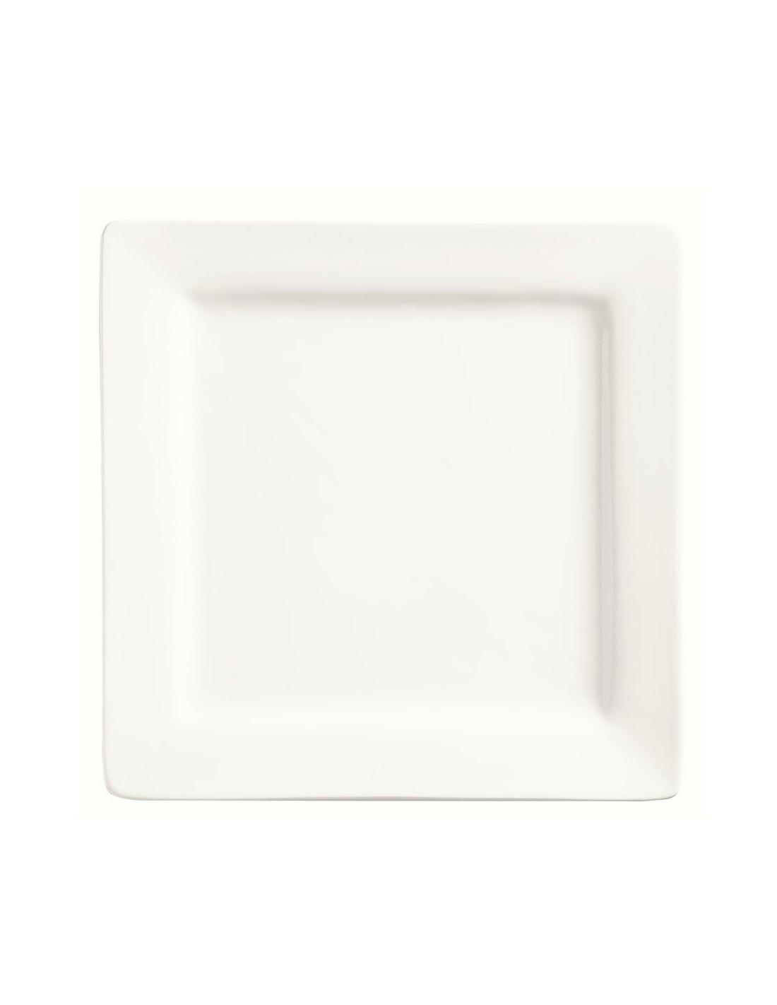 Libbey slate sl9 plato cuadrado porcelana 23 cm for Vajilla para bar