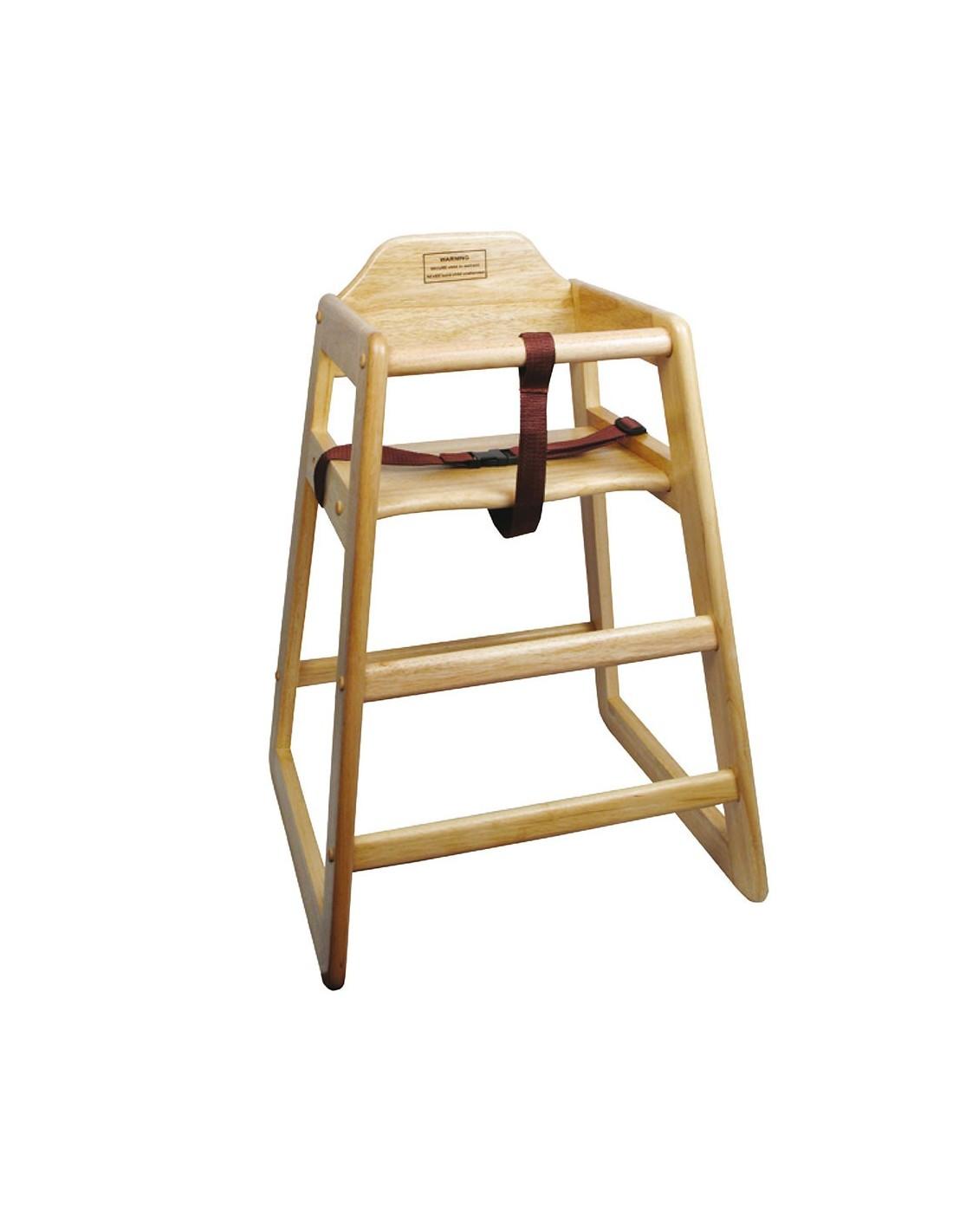 silla para beb de madera natural winco chh 101