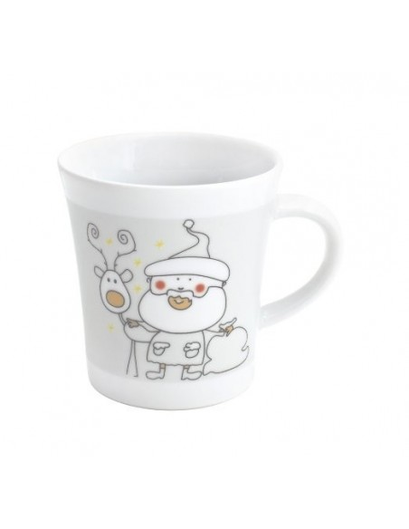 TAZA DE PORCELANA NAVIDEÑA NOTES 300 ML