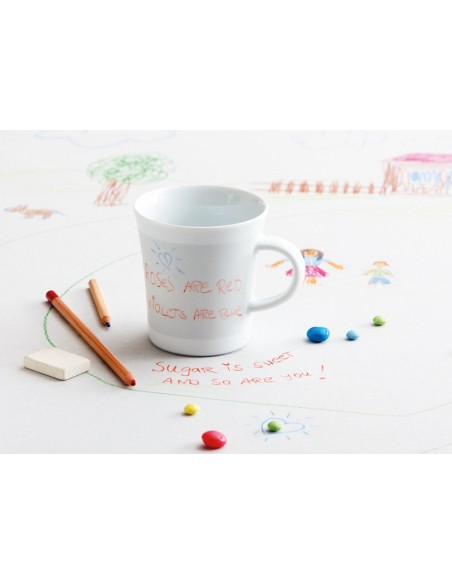 TAZA DE PORCELANA NOTES LISA 300 ML