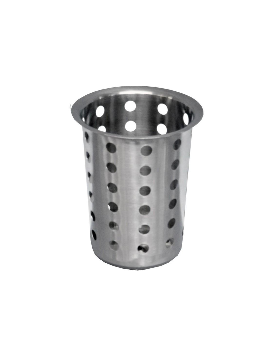 Portacubierto cilindrico de acero inoxidable winco fc ss for Porta cucharas cocina