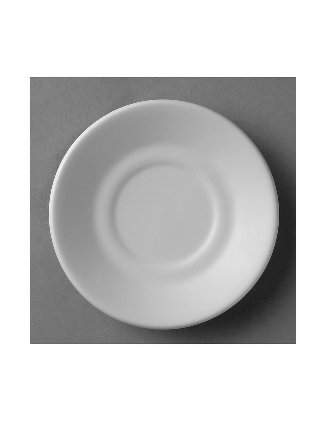 Plato para taza para cafe clasico anfora blanco polar for Platos para