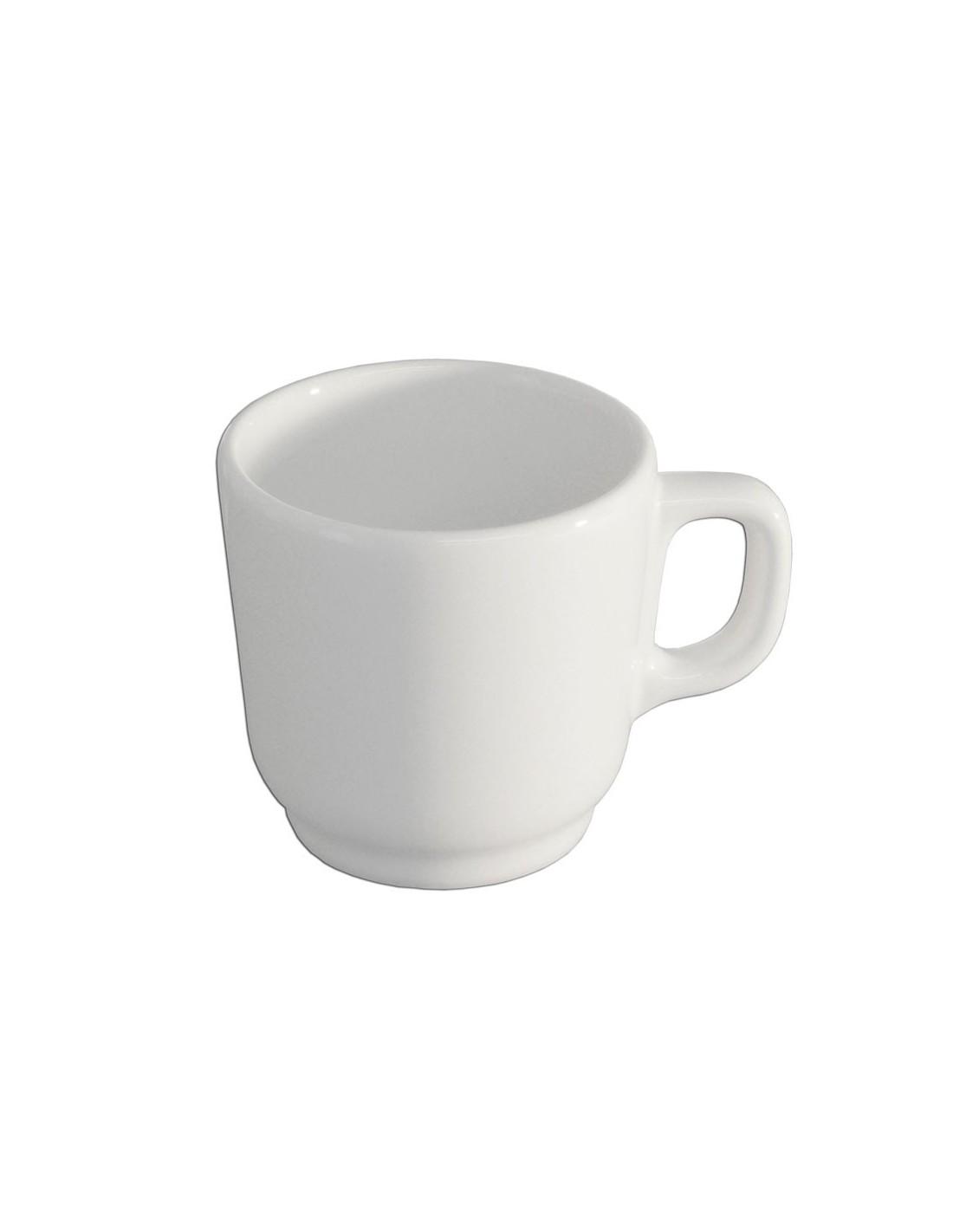 Anfora blanco polar taza para cafe mug 260 ml for Tazas cafeteria