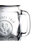 LIBBEY 97085 MASON JAR DRINKING JAR DECORADO CON ASA