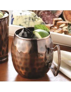 MM-100 TARRO HAMMERED MOSCOW MULE MUG 14 OZ