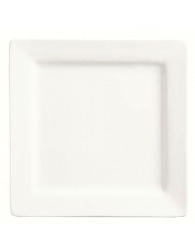 libbey world slate plato cuadrado 18 cm