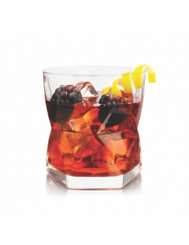 Vaso Rombus Old Fashioned 352 ml 12 oz Crisa 6306