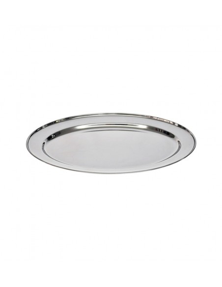 PLATO BASE DE ACERO INOXIDABLE 30 CM