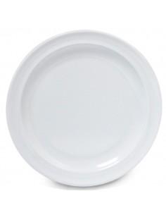 GET DP-509 Plato Trinche 23 cm Melamina Blanca
