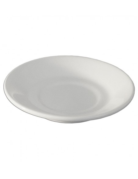 PLATO PARA CAFE EMBROCABLE BLANCO POLAR