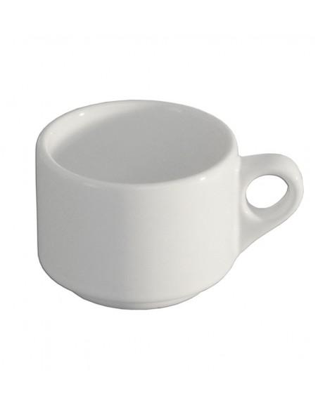 TAZA PARA CAFE EMBROCABLE BLANCO POLAR